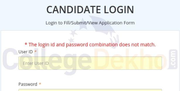 Error Message on Entering Incorrect Password