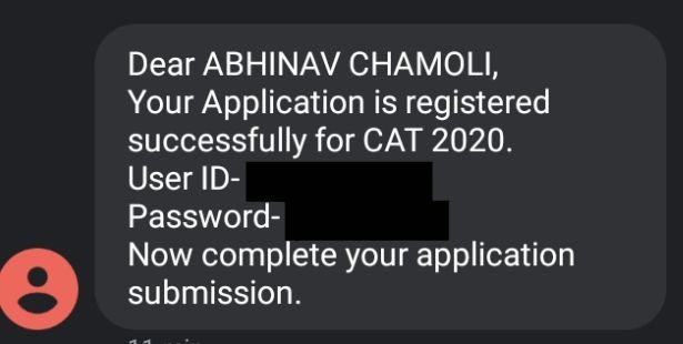 SMS With CAT User ID and Password