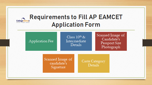Requirements to Fill AP EAMCET Application Form