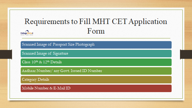 Requirements to Fill MHT CET Application Form