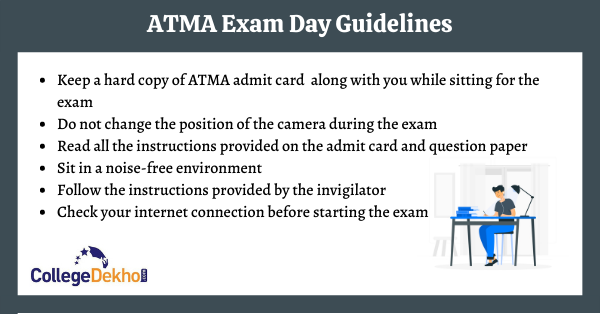 ATMA Exam Day Guidelines