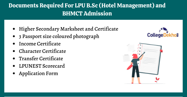 Documents Required for LPU B.Sc (Hotel Management) and BHMCT Admission